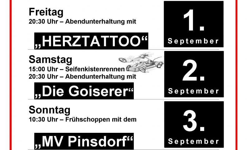 Plakat Zeltfest FF Wiesen 2017